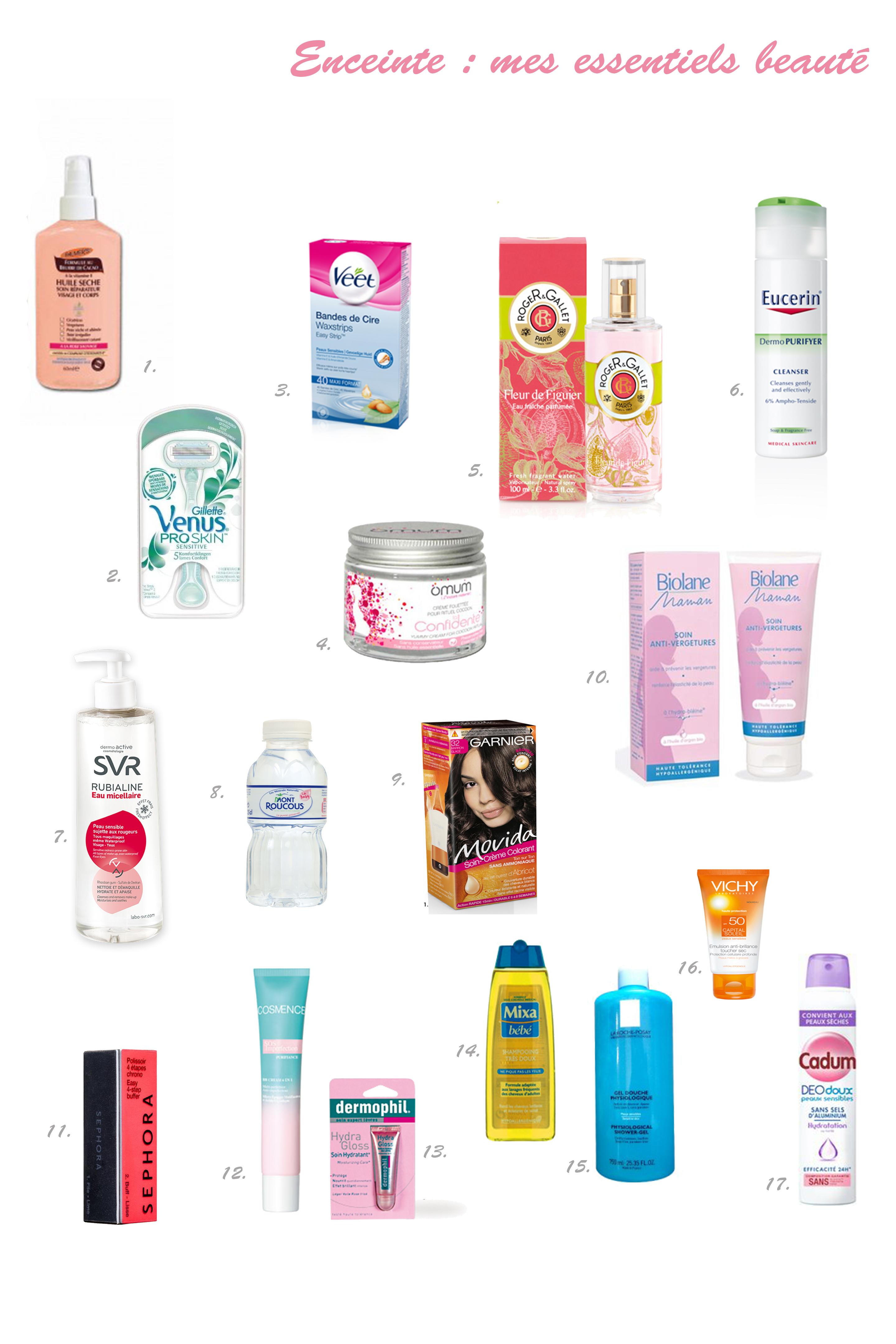 cosmetique a eviter enceinte