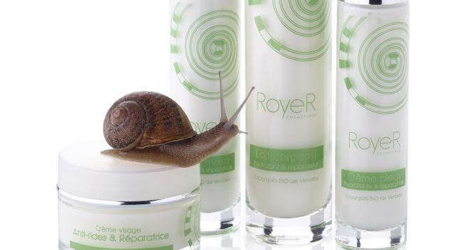 cosmetique a la bave d'escargot