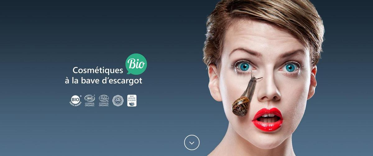 cosmetique bio a la bave d'escargot