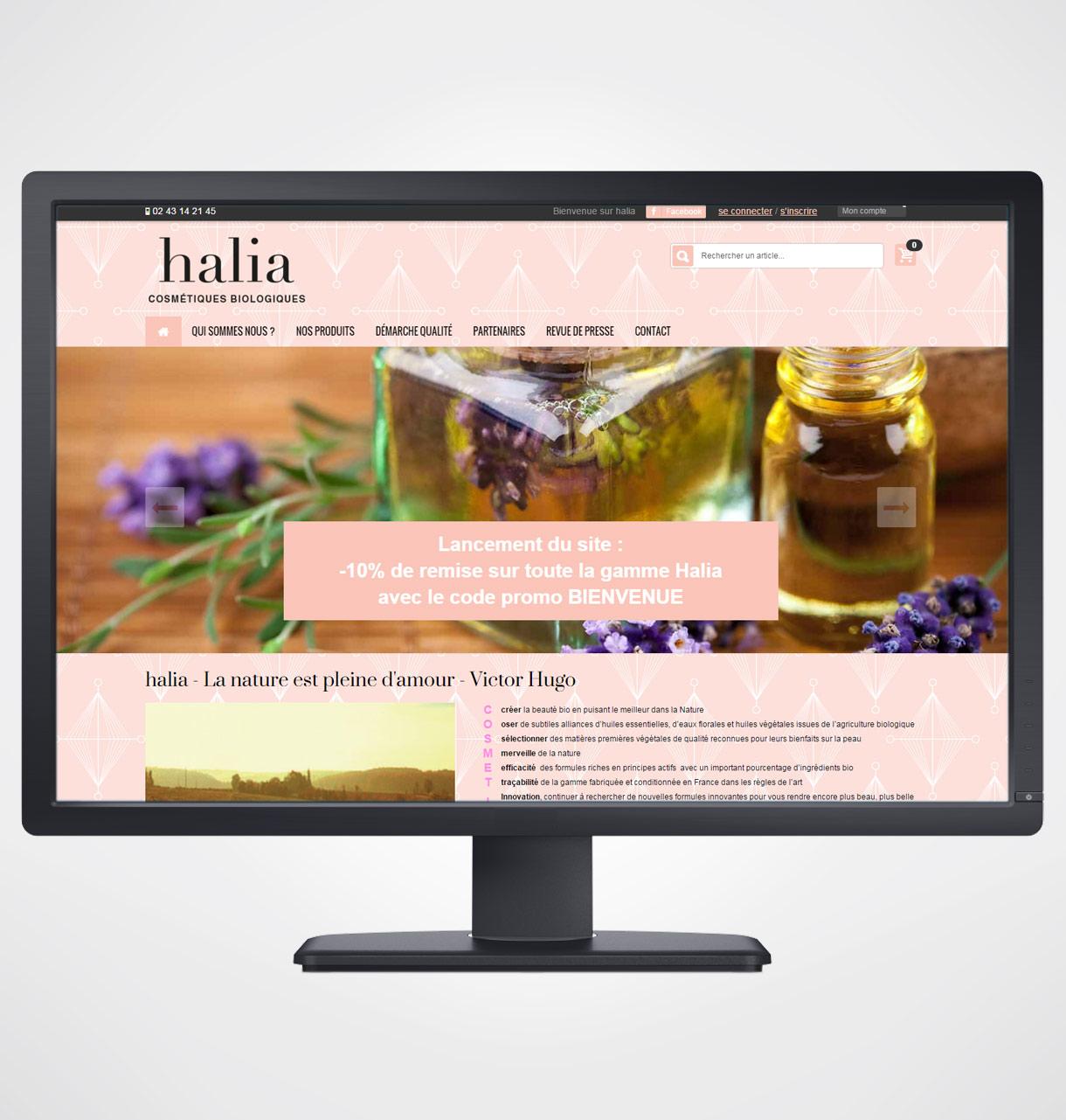 cosmetique bio halia