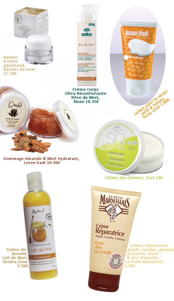 cosmetique miel